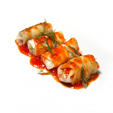 Cabbage Rolls in Tomato Chili Sauce